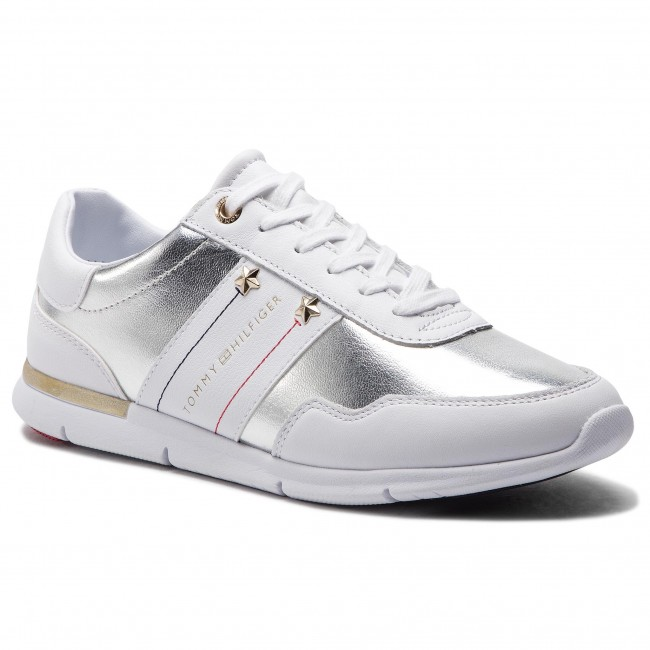 2381d34b244 Sneakers TOMMY HILFIGER - Tommy Essential Leather Sneaker FW0FW03688 White  100
