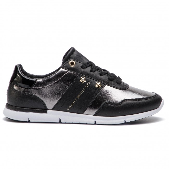 990 Fw0fw03688 Sneakers Leather Essential Hilfiger Tommy Sneaker Black vf6gyIbY7