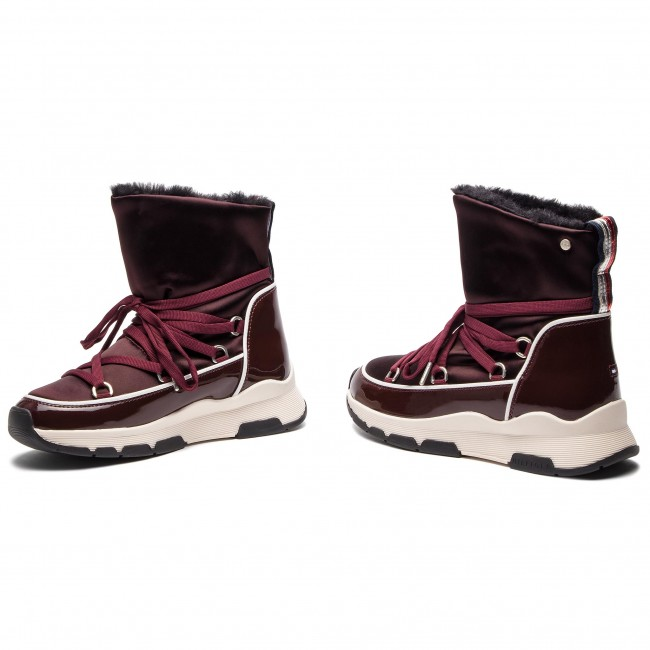 Tommy Hilfiger Technical Zapatos Boot 296 Cool Chocolate Satin Winter Fw0fw03697 Decadent 5q3ARj4L