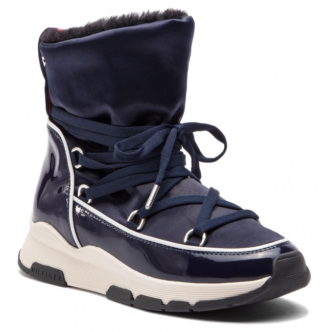 Cool Hilfiger Winter 403 Botas Tommy Technical Satin Midnight Fw0fw03697 Boot hQsCtrd