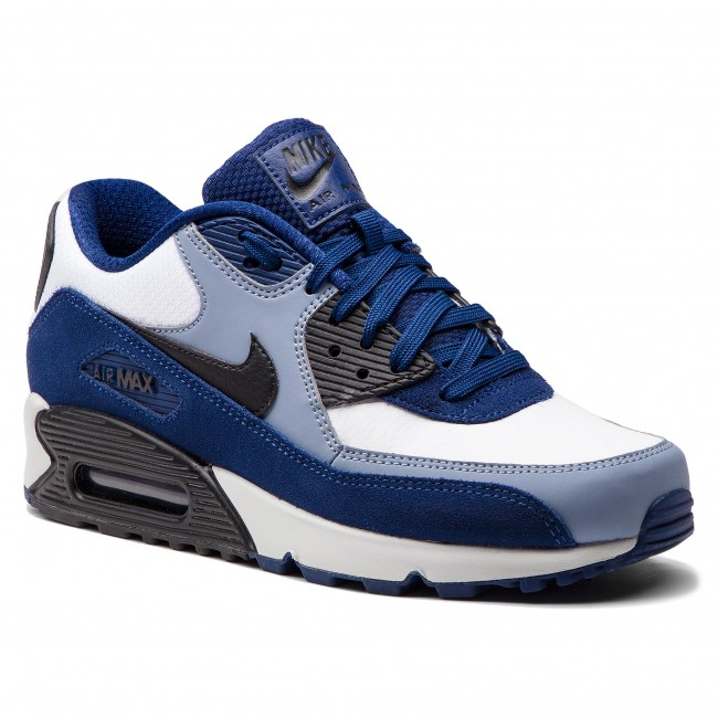 new product f275d 75053 Zapatos NIKE - Air Max 90 Leather 302519 400 Blue Void Black Ashen Slate