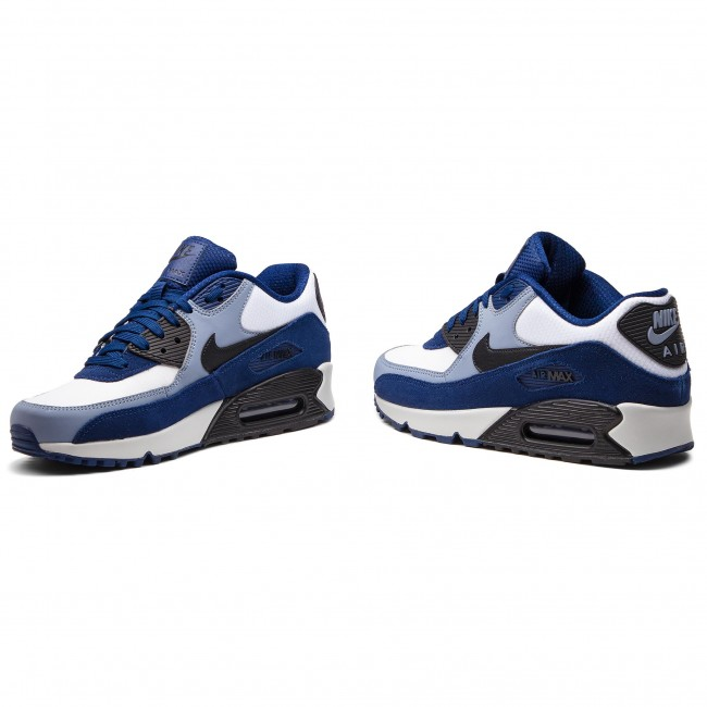 new product c9af7 612fd Zapatos NIKE - Air Max 90 Leather 302519 400 Blue Void Black Ashen Slate