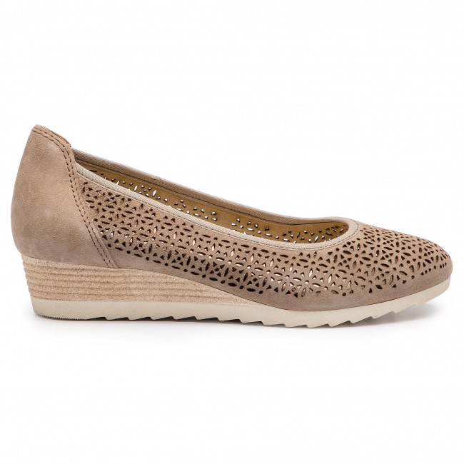 22503 22 Zapatos 9 Lt Suede Taupe 344 Caprice yvgYf6b7