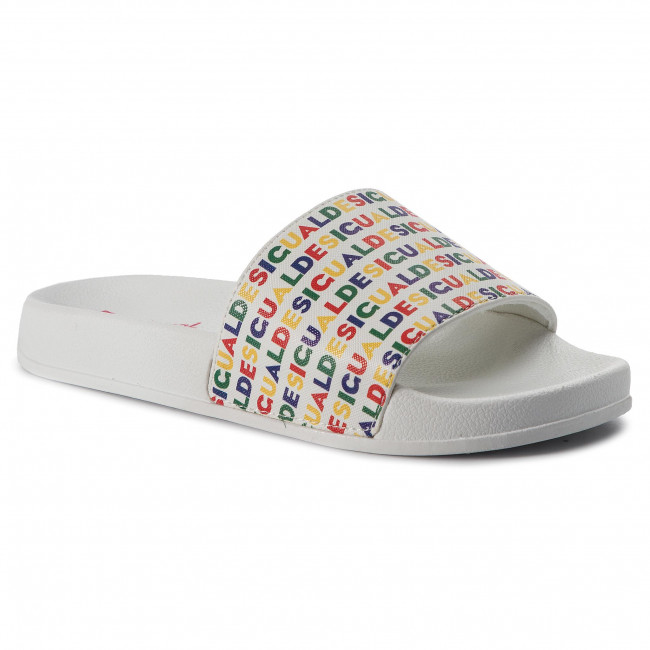 19sshp10 Chanclas De Color Slide Desigual Blanco Shoes Logomania 1000 PXTOZiku