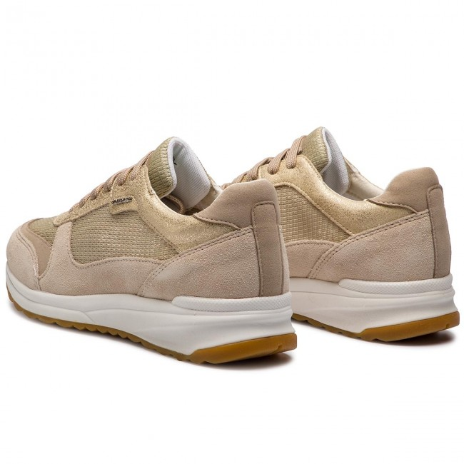 C 0ly22 Geox Airell Cb55a beige D642sc D Champagne Sneakers I2EH9WD