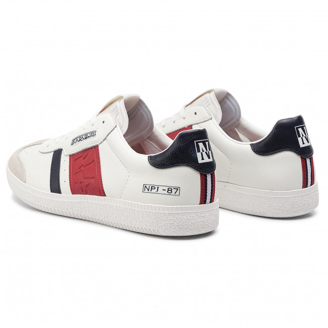 navy K00 White Court Sneakers Napapijri red N0yjt2 cLR435Aqj