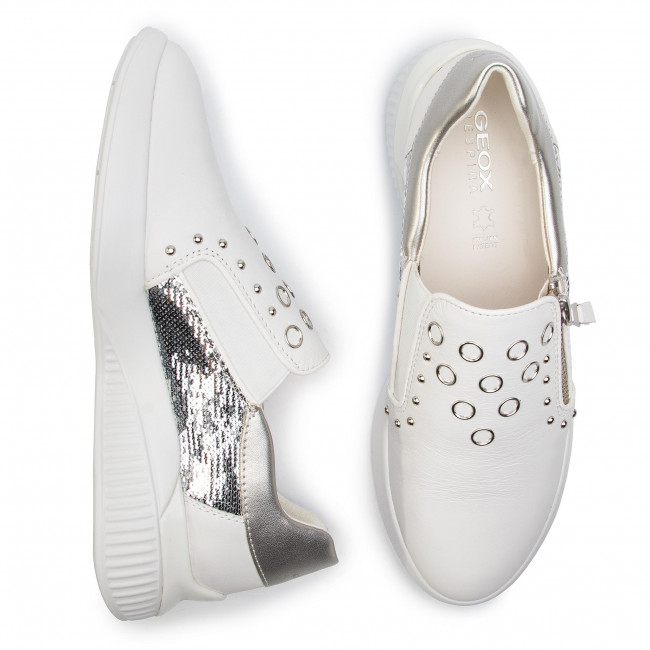 D928sd silver Geox C0007 White 085at Sneakers D Theragon qpSVUzM