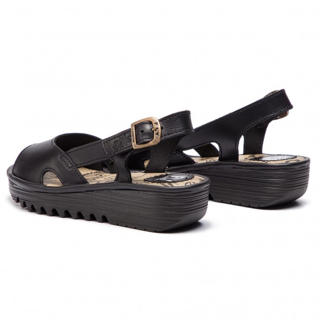 Fly Edonfly Black P501034000 Sandalias London YHDE9W2I