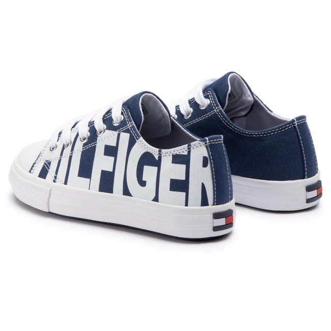 Lace 30274 Cut Tommy Low Sneaker Hilfiger T3b4 Zapatillas up X007 Blue white 0618 dCerBox