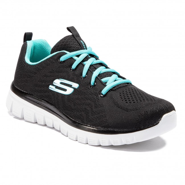852f3f86187 Zapatos SKECHERS - Get Connected 12615 BKTQ Black Turquoise ...