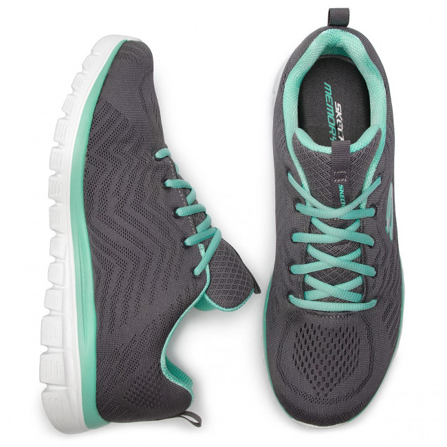 Zapatos Charcoal green Get 12615 Skechers ccgr Connected EDeH29YIW