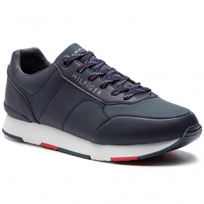 Runner Midnight Tommy 403 Corporate Hilfiger Sneakers Leather Fm0fm02057 8nO0wXPk