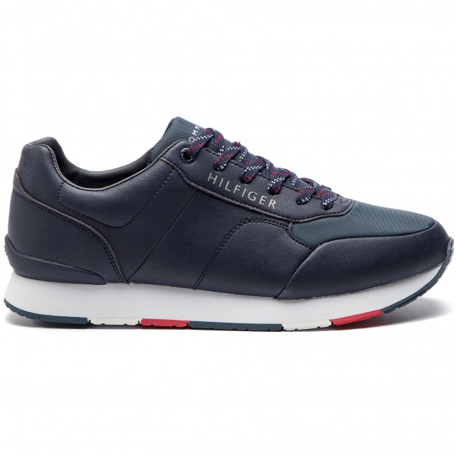 Runner Tommy Corporate Hilfiger 403 Leather Fm0fm02057 Midnight Sneakers 0k8wXZnOPN