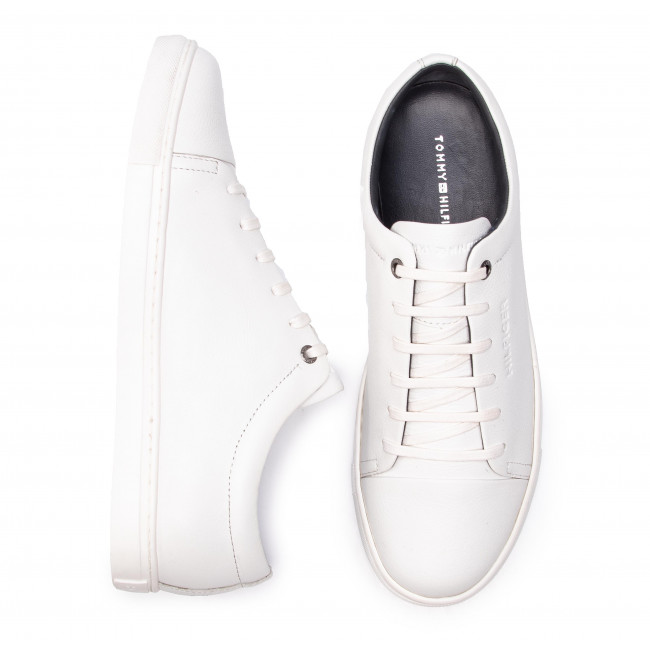 Dress Fm0fm02191 Leather Tommy Hilfiger Core 100 Sneakers Cupsole White EH2YWD9I