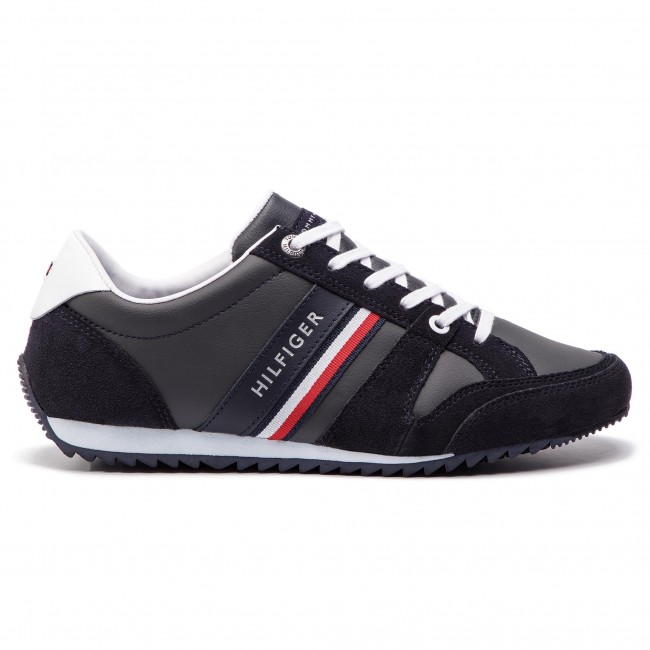 Tommy Hilfiger Midnight 403 Essential Fm0fm02045 Sneakers Runner Leather yb7g6f