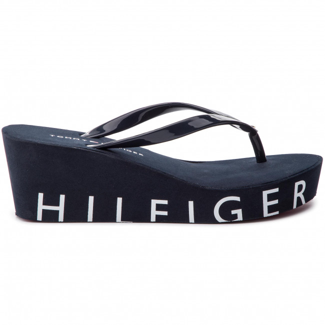 Chanclas Sandal Fw0fw04057 403 Tommy Wedge Hilfiger Midnight Beach xBtsQCrdh