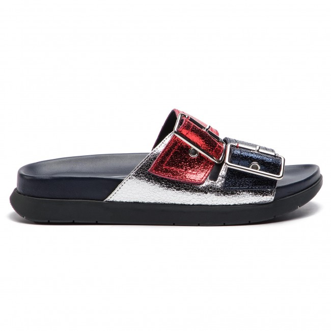 Rwb Crackle Footbed Chanclas 20 Hilfiger Fw0fw03805 Tommy Metallic Sandal uTF1JlKc3