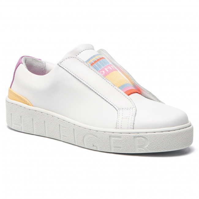 Dress Fw0fw03859 100 Sneakers Sneaker White Tommy Hilfiger Elastic Ygb6yvf7
