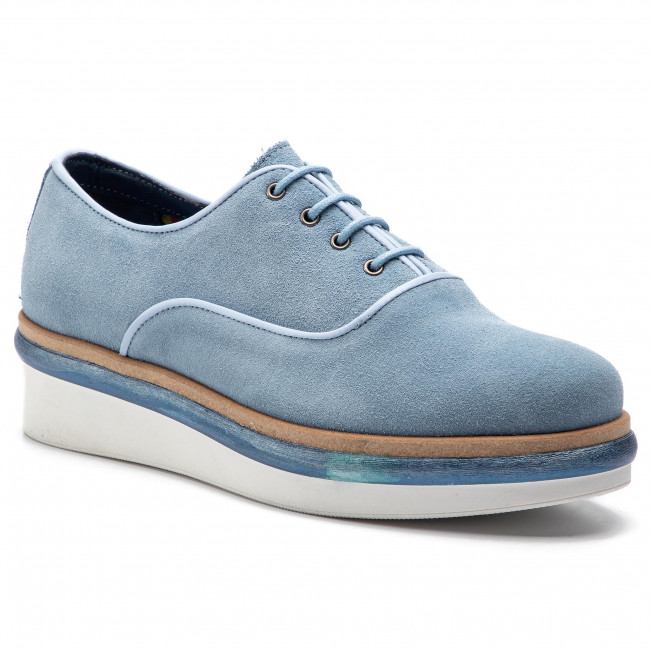 12d59410ce2 zapatos Oxford TOMMY HILFIGER - Easy Femmine Lace Up Shoe FW0FW03957 Blue  Fog 437