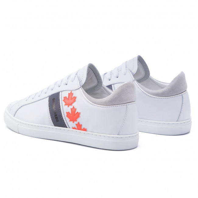 Bianco M635 Snm0035 01501761 Canadian Sneakers Dsquared2 Team Fluo arancia EDH2I9