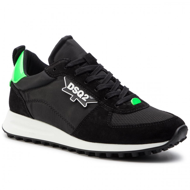 Sneakers New Hiking Dsquared2 Snm0110 16801758 verde Runner M1434 Nero EDH92I