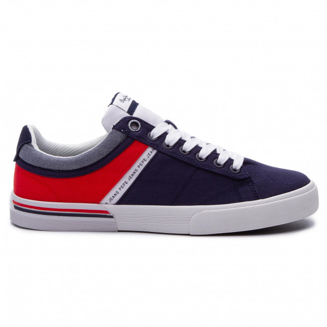 Navy 595 Pepe North Jeans Sneakers Pms30531 Half 4L35ARj