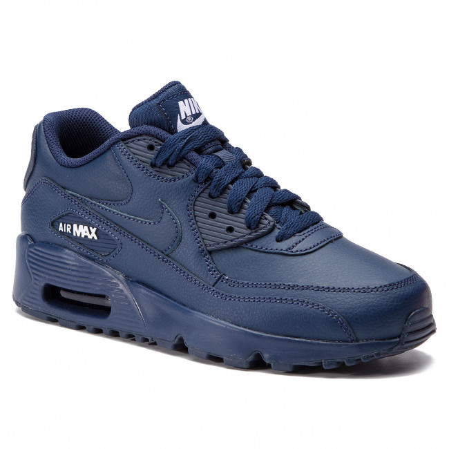 35423d034a8 Zapatos NIKE - Air Max 90 Ltr (GS) 833412 412 Midnight Navy White ...