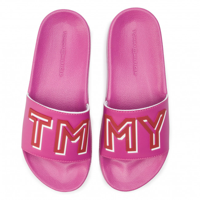 Red Chanclas Hilfiger Fuchsia 521 Slide Colorful Fw0fw04239 Tommy Pool iuXPZk