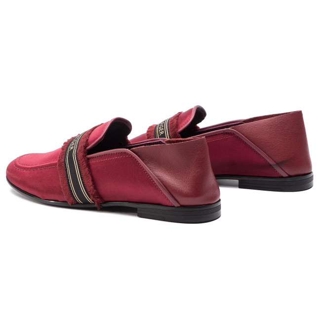 Tommy Loafer Zapatos Feminine Beet Red Hilfiger Fw0fw04267 522 Satin nwkXOP8N0