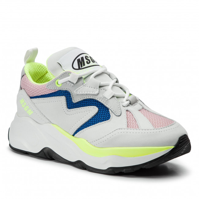 Msgm Sneakers 700 De Color Attack 2642mds2086 12 Blanco srdChQtx