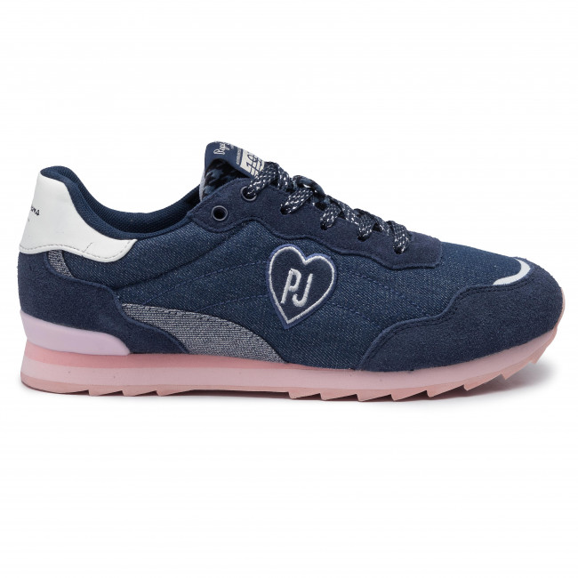 Zapatos Navy Pepe es Mujer Pgs30417 JeansBelle De 595 Sneakers Zapatos Denim DY9HIE2W