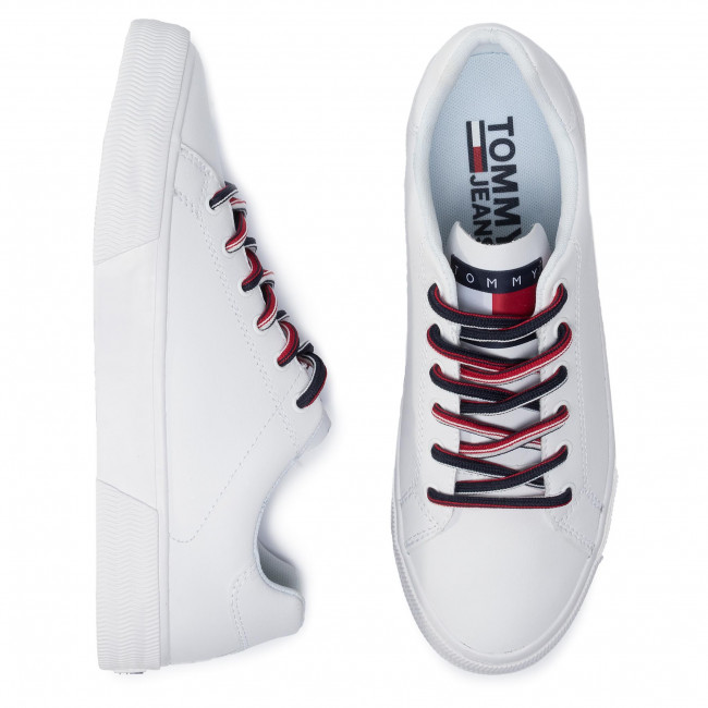 Sneakers Sneaker Tommy es Zapatos White Ybs Hombre Em0em00389 Zapatos JeansEssential De 5uK13TFJlc