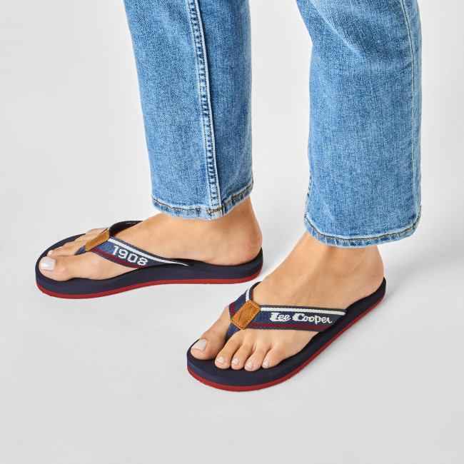 Bajo Costo Chanclas LEE COOPER - LCWL-20-33-011 Navy/Red - Chanclas para la playa - Chanclas y sandalias - Zapatos de mujer KjotIm