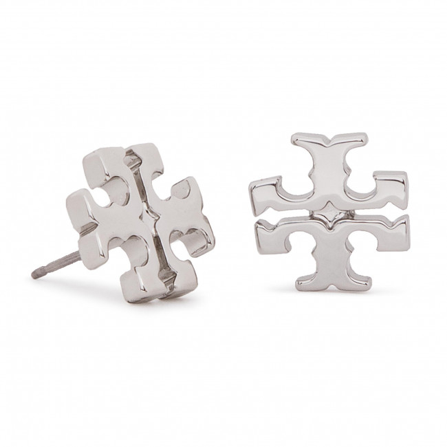 3c44c2bf360a Pendientes TORY BURCH - Logo Stud Earring 11165504 Tory Silver 022 ...