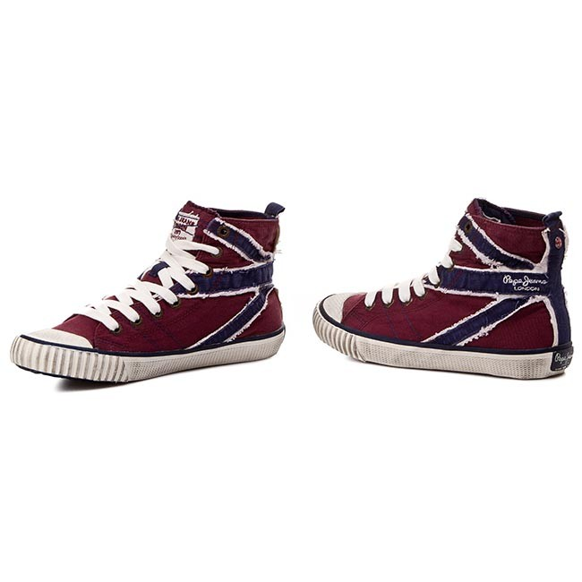Industry 297 Zapatillas Jeans Pepe Pls30160 Merlot Flag Stitch EH2Y9IWD