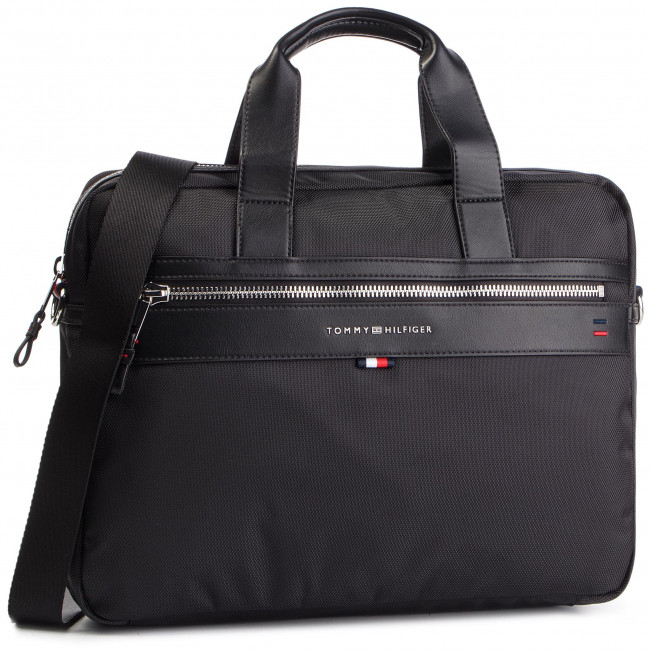 bf8dafc2e Bolso Para portátil TOMMY HILFIGER - Elevated Computer Bag AM0AM02962 002