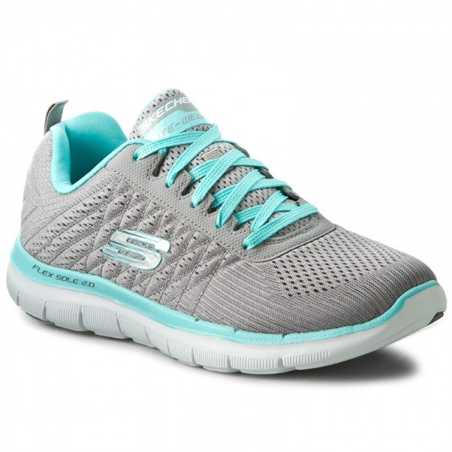 6e3b50406d9f Zapatos SKECHERS - Break Free 12757/GYLB Gray/Light Blue