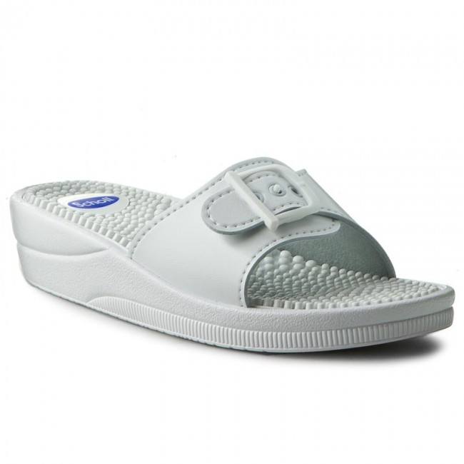 Chanclas De Scholl Sandalias F20054 1065 360 Massage New White Confortables Y Zapatos Mujer PkXZiu