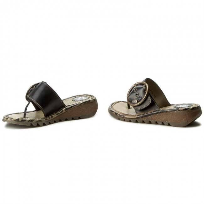 Mujer Trim Para Chanclas London Playa Sandalias La De Y Fly Zapatos P500453020 Black PkXuZi