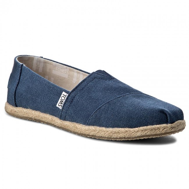 De Zapatos Alpargatas Toms Navy Classic Mujer Washed 10009758 rtBshQdxCo