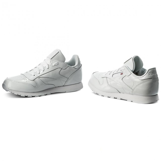 White Sneakers Reebok Classic Zapatos Cn2063 Patent Leather Mujer De Yb7f6yg