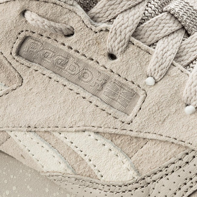 Mujer Bs9725 Sm Sand Sneakers Leather Stone chalk De Classic Ripple Zapatos Reebok 54jAL3Rq
