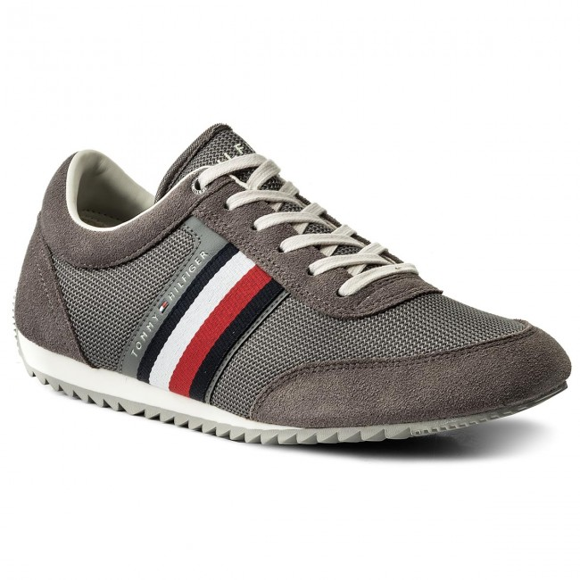 Sneakers TOMMY HILFIGER - Corporate Material Mix Runner FM0FM01314 Steel Grey 039