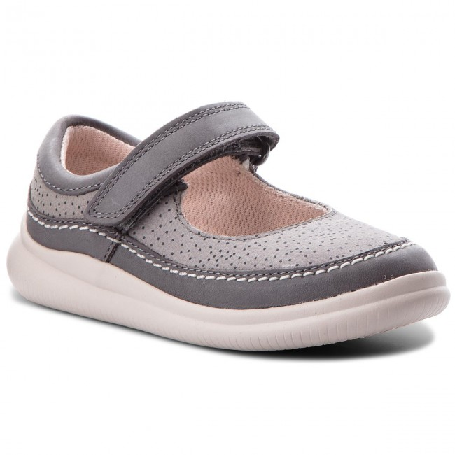 Zapatos CLARKS Cloud Fiesta 261317086 Grey Leather