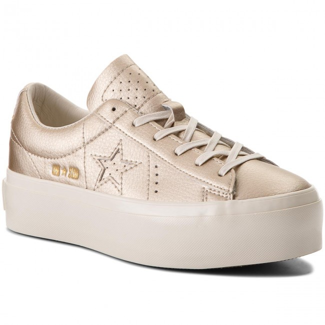 converse gold mujer