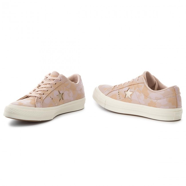 One Zapatillas Gold Tenis De Particle 159705c Zapatos Mujer Converse Ox Beige light Star kiuPTXOZ