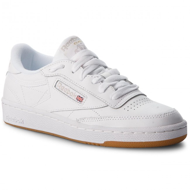 Zapatos Reebok - Club C 85 Bs7686 White/light Grey/gum Sneakers De Mujer