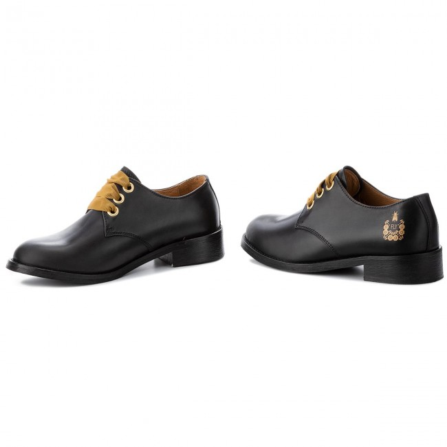 Fly London Mujer P144363000 Dwellfly Zapatos Black Oxford De hsrQtd