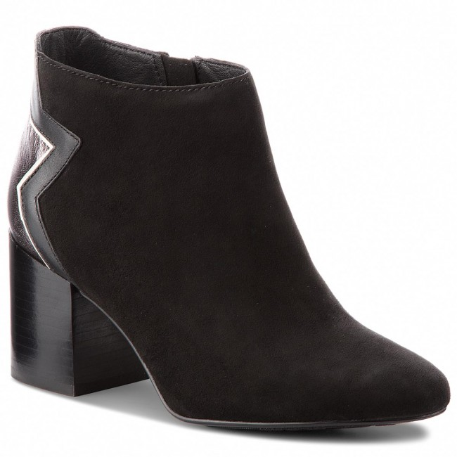 d26974e7 Botas TOMMY HILFIGER - Elevated Suede Heeled Bootie FW0FW02939 Black 990