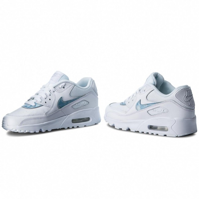 Zapatos NIKE Air Max 90 Mesh (GS) 833418 111 WhiteRoyal Tint White